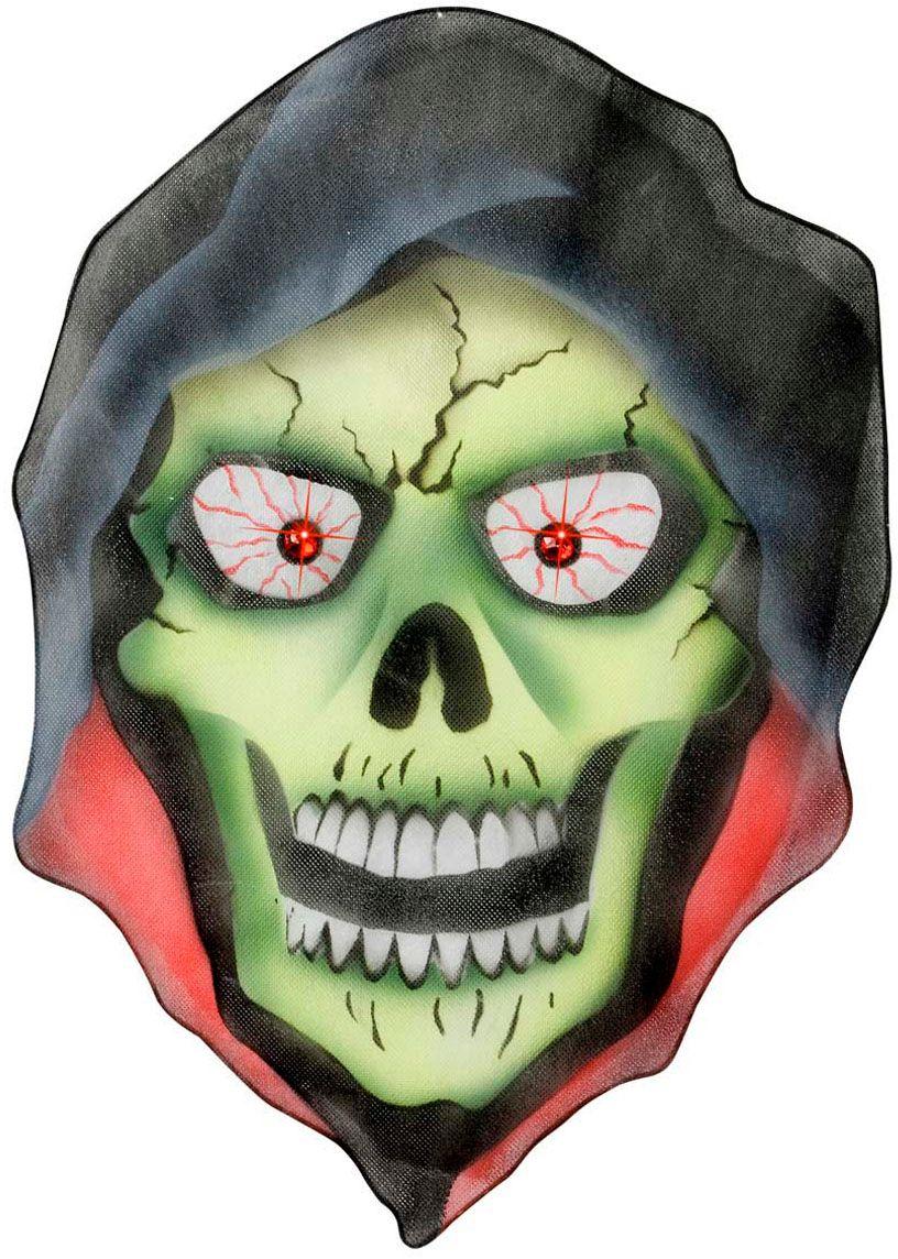Griezelig skelet hoofd versiering