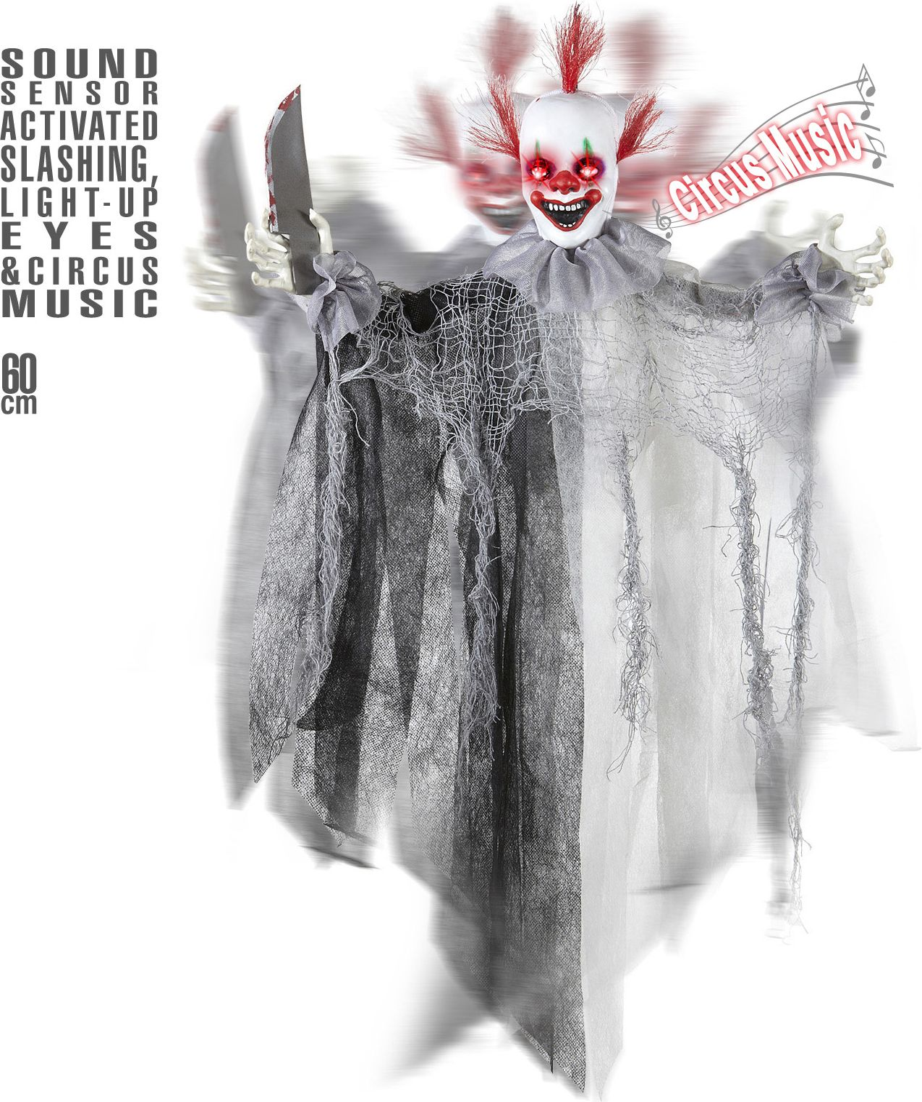 Griezelige horror clown