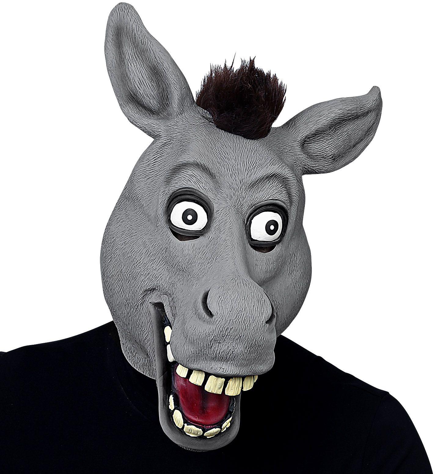Grijs masker ezel