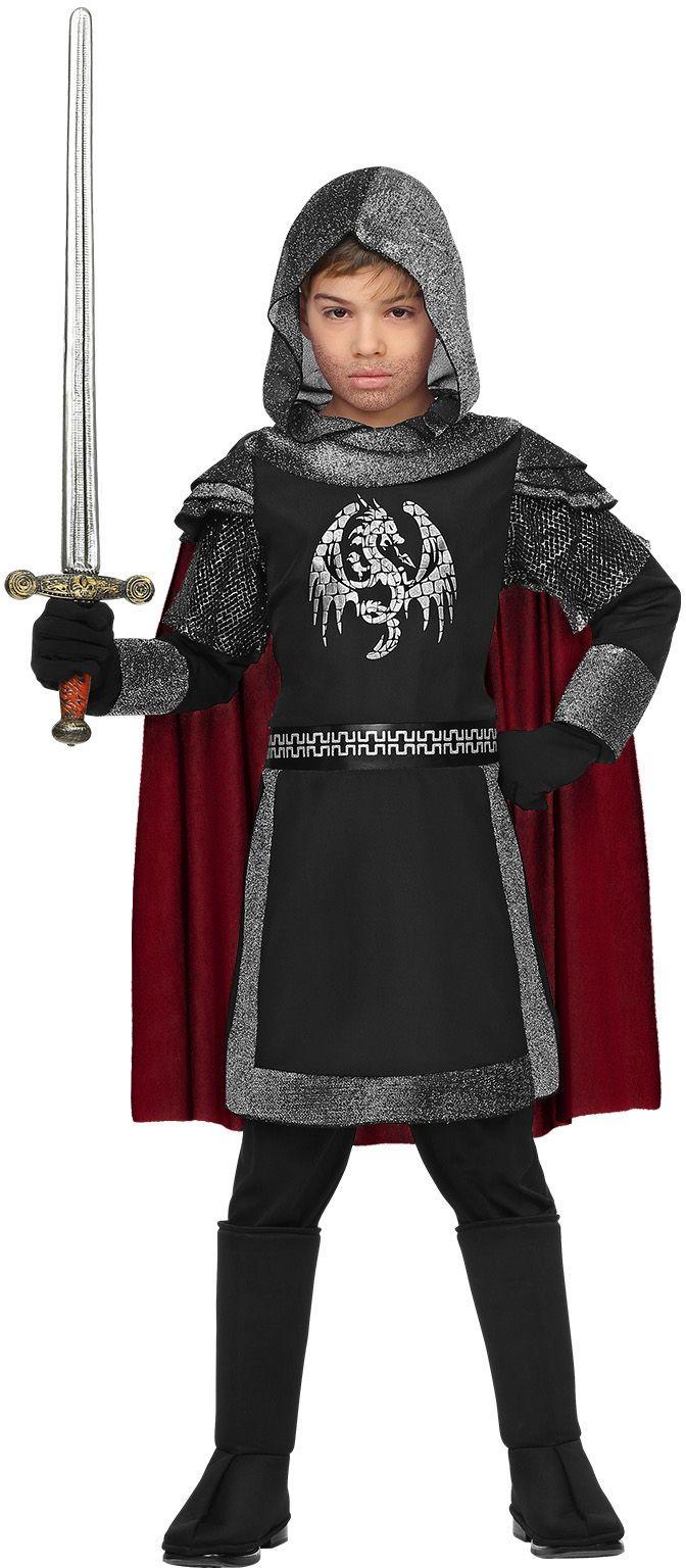 Grijs middeleeuws ridder pakje jongens