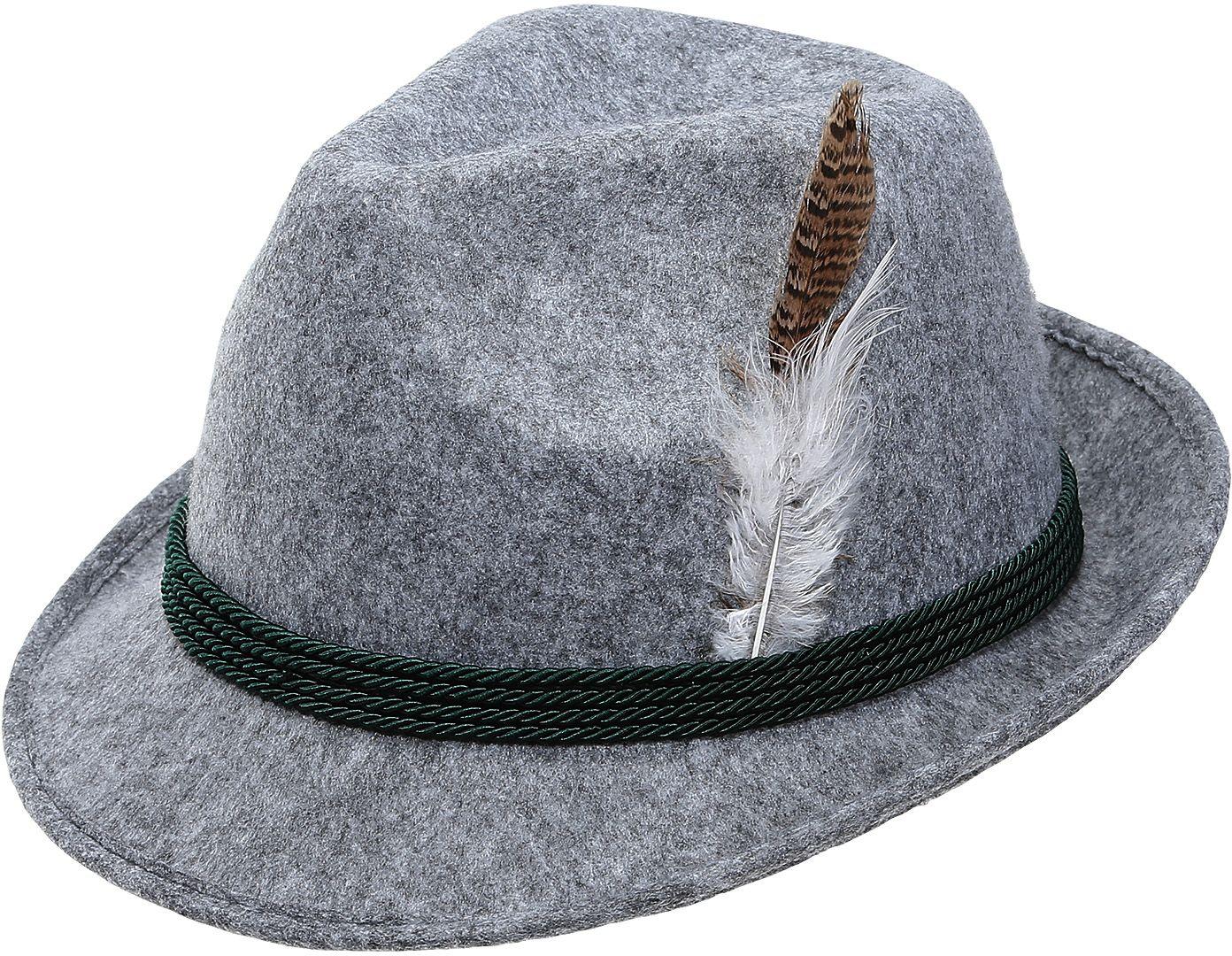 Grijze oktoberfest hoed heren