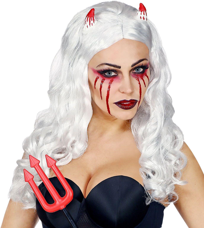 Grijze pruik Halloween