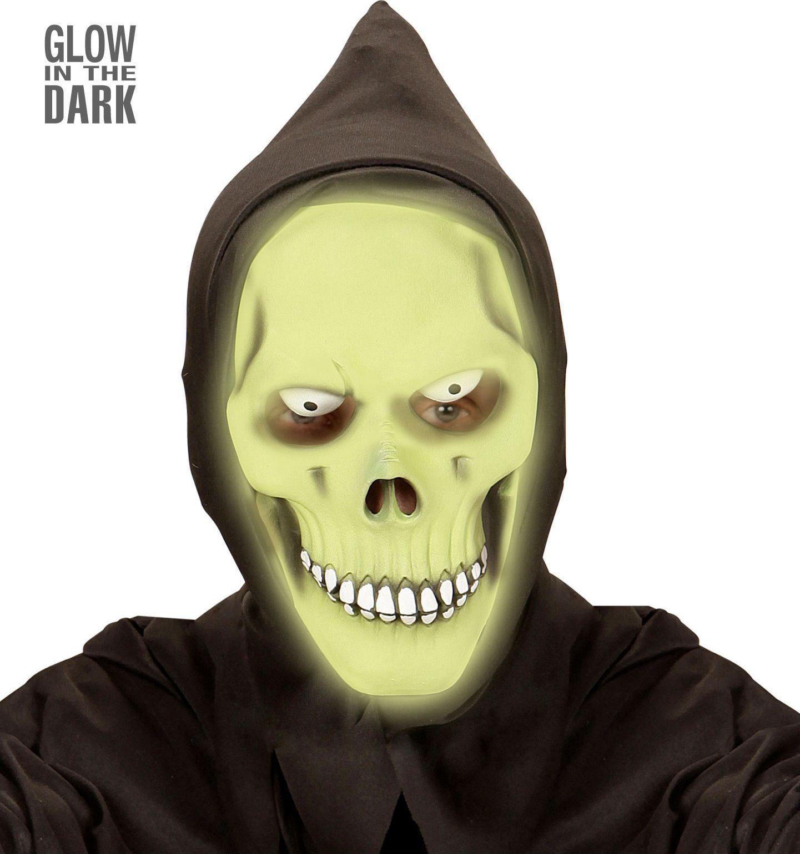 Groen glow in the dark grim reaper masker
