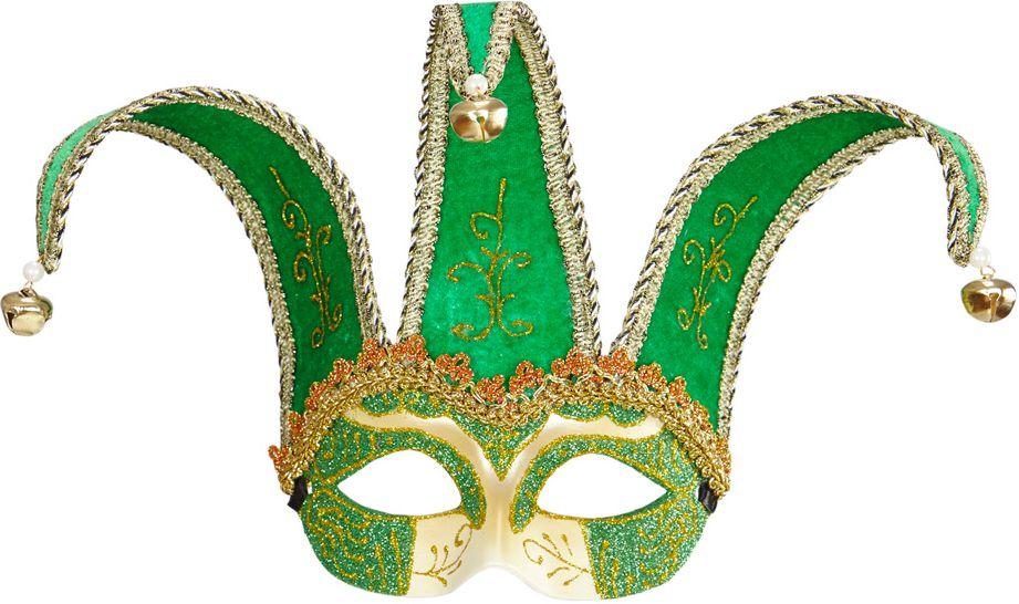 Groen Jolly Joker oogmasker