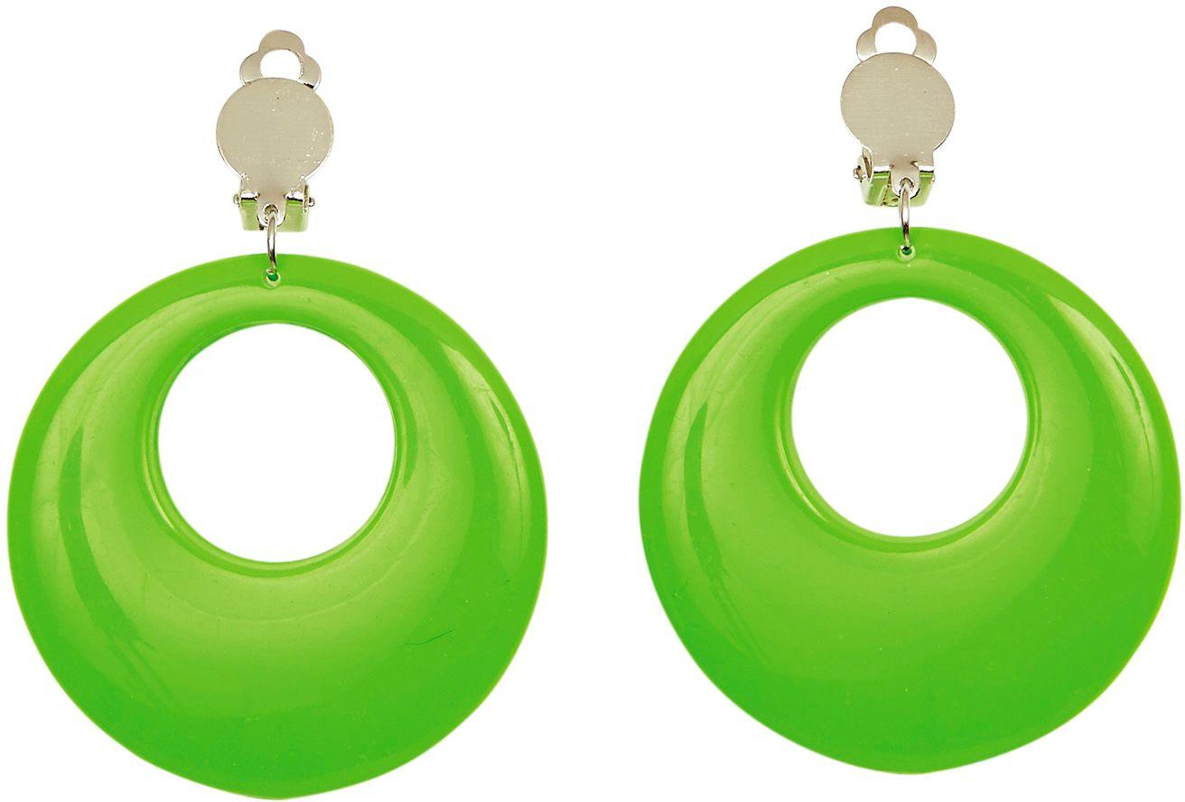 Groene 80s ring oorbellen