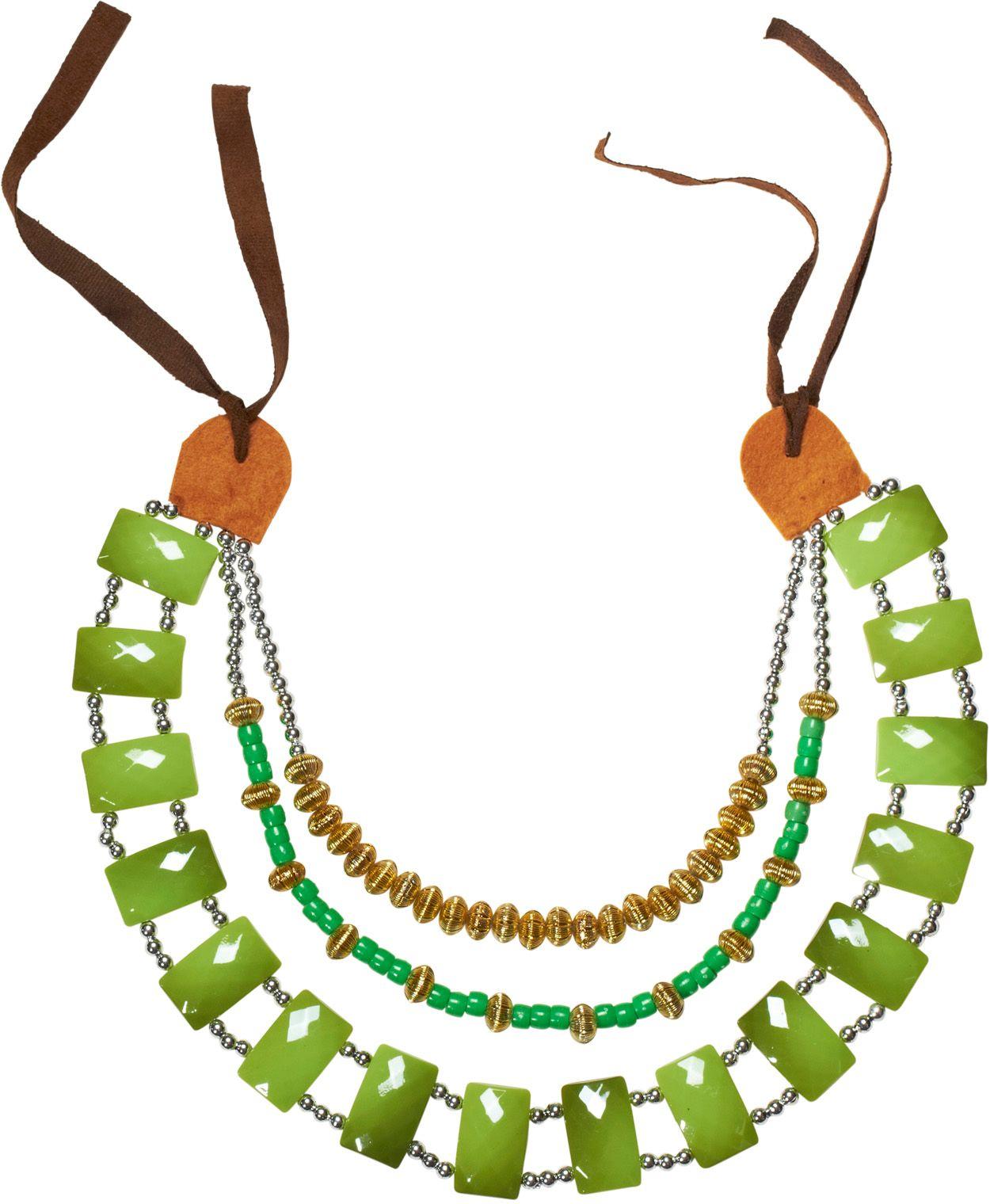 Groene Afrikaanse tribale ketting