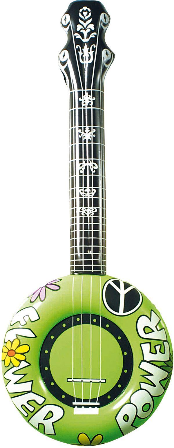 Groene banjo opblaasbaar