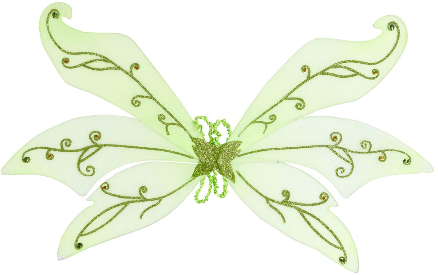 Groene bosfee vleugels