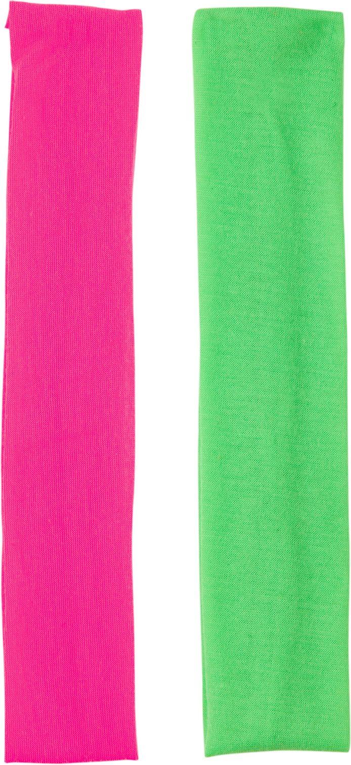 Groene en roze hoofdband