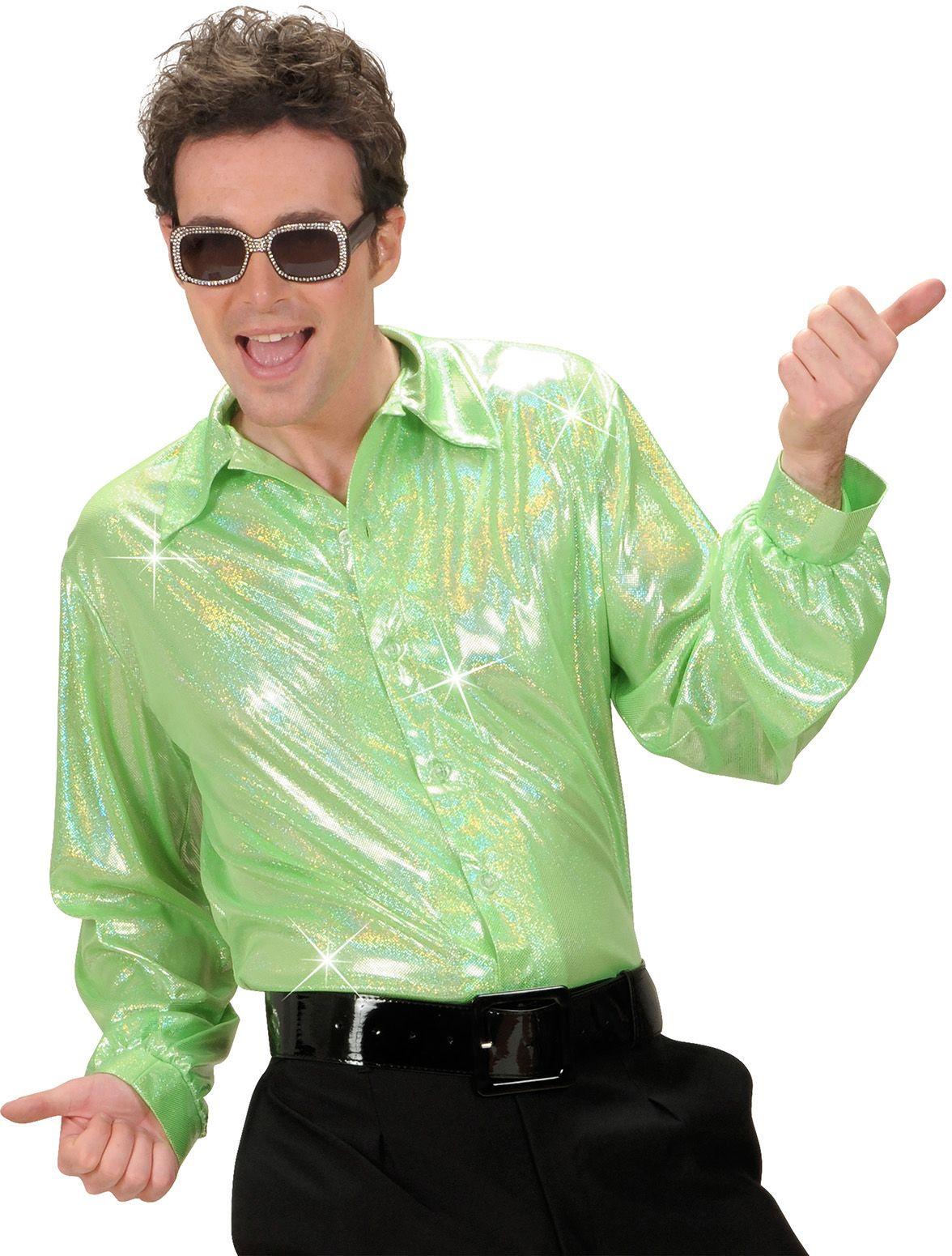 Groene holografische disco blouse