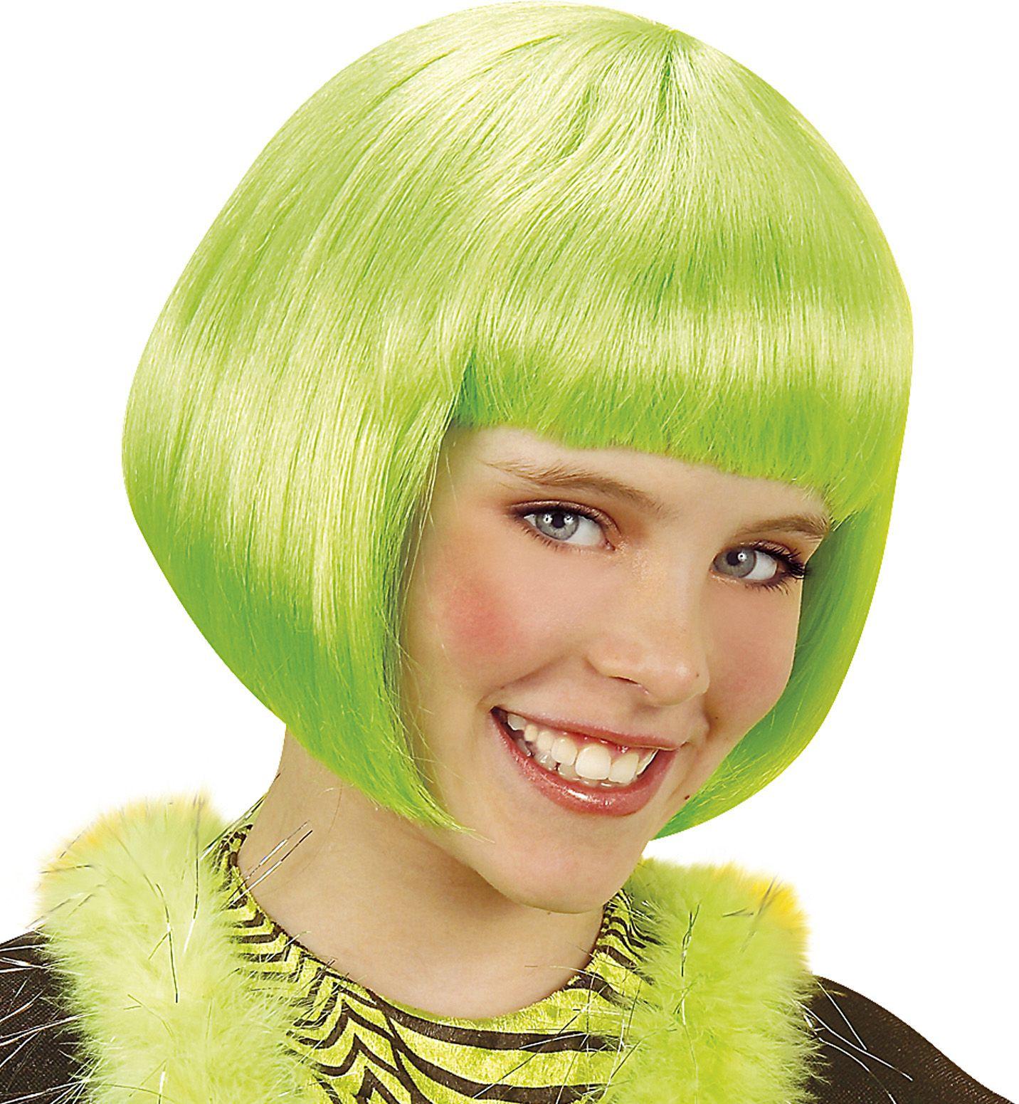 Groene Jenny pruik kind