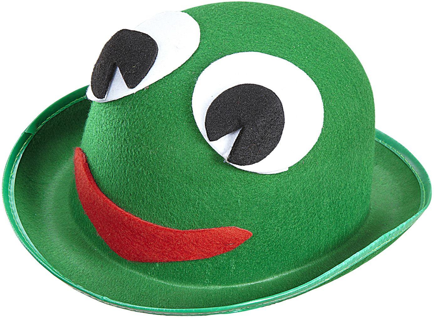 Groene kikker hoed