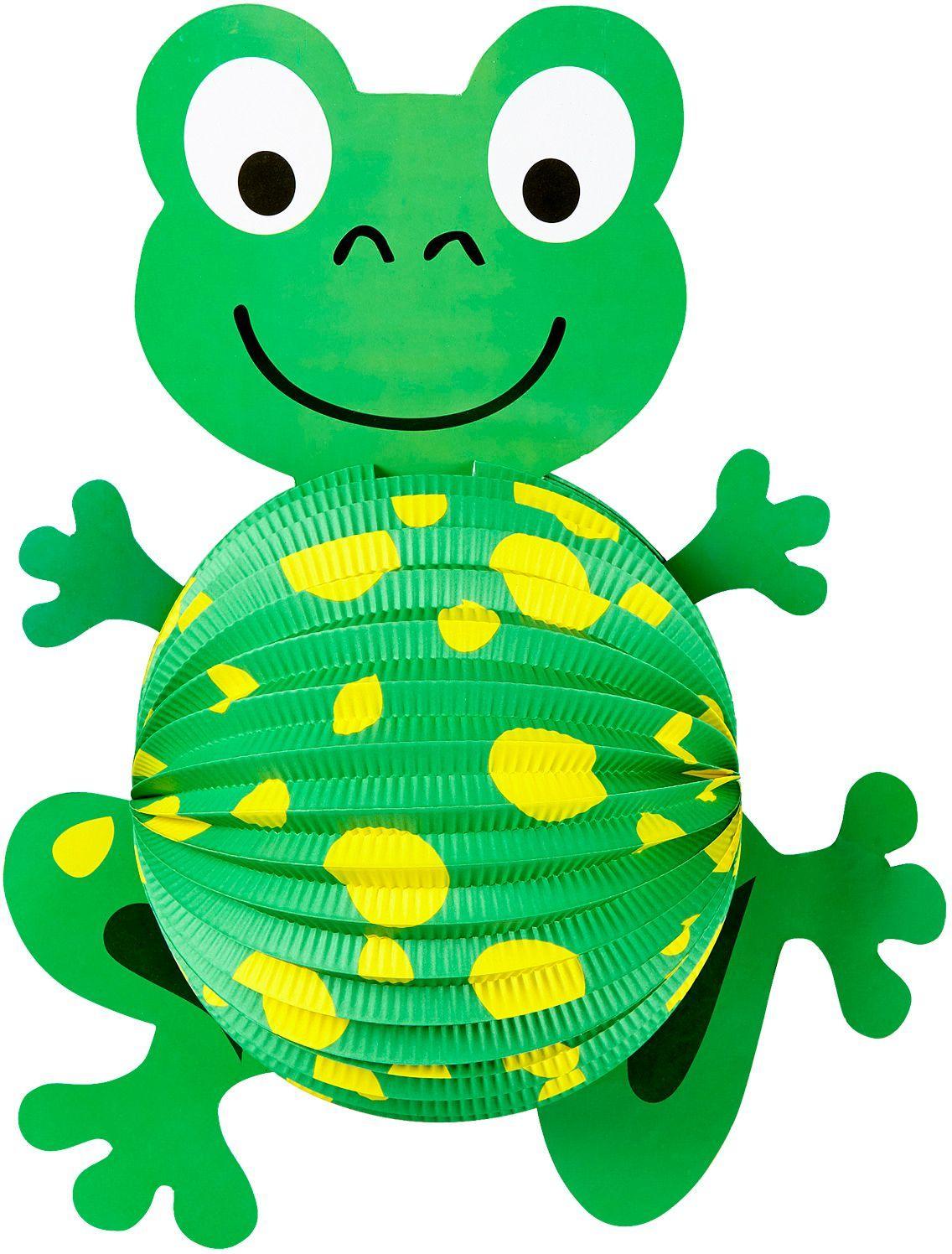 Groene kikker lampion