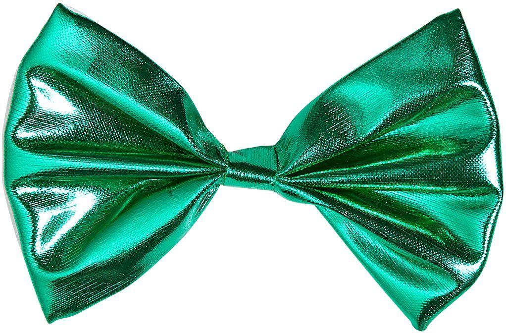 Groene metallic vlinderstrik