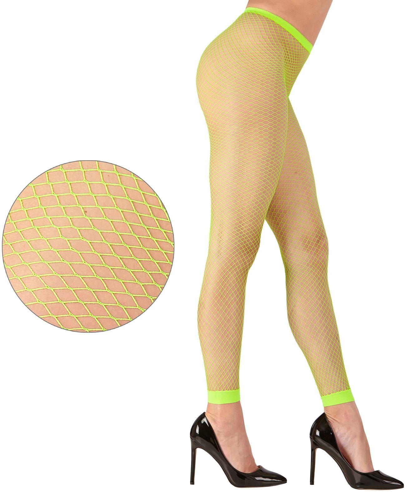 Groene neon visnet legging One-size-volwassenen