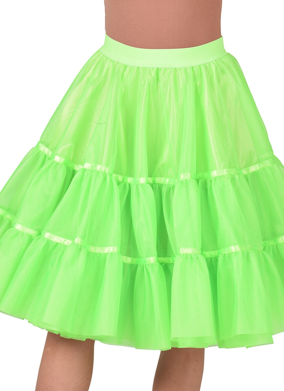 Groene petticoat middel lang vrouwen