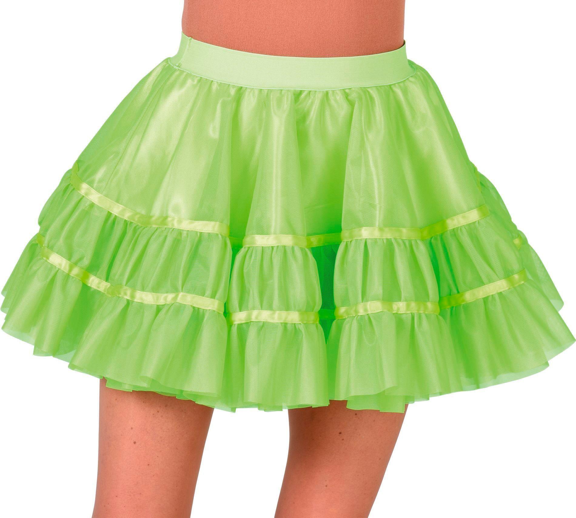 Groene petticoat vrouwen