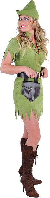 Groene Robin hood jurk vrouwen