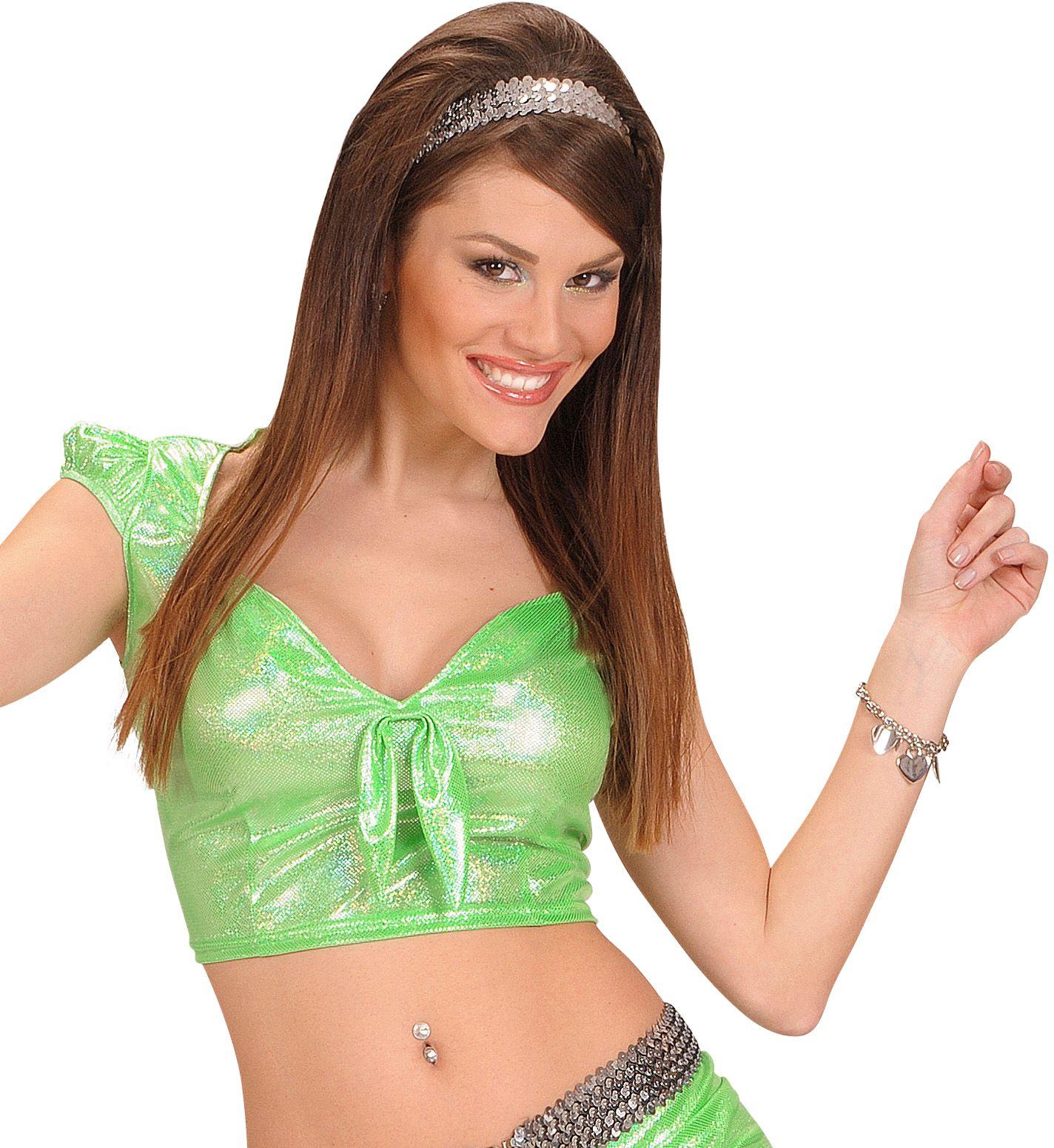 Groene top met strik