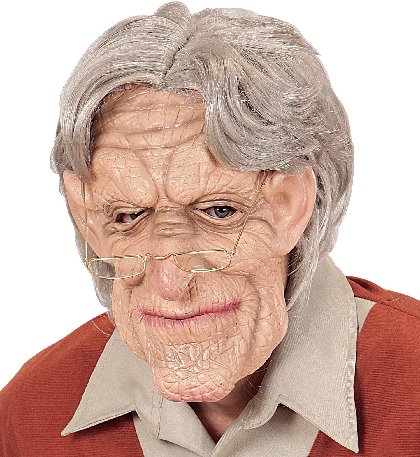 Grootvader masker met pruik