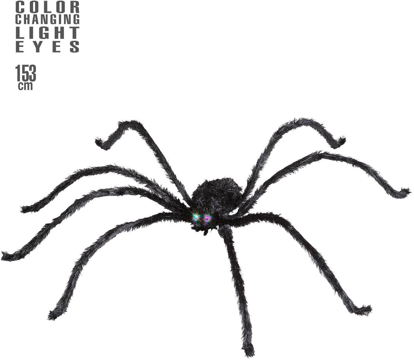 Grote spin met lichtgevende en van kleur veranderende ogen