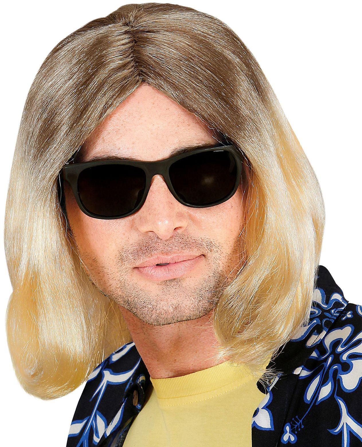 Grunge pruik blond