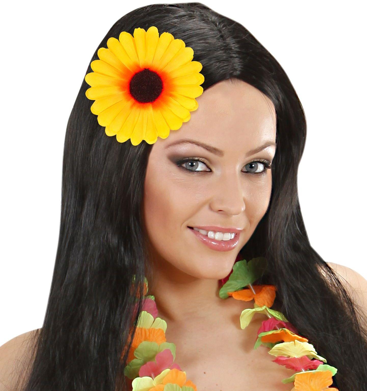 Haarclip zonnebloem