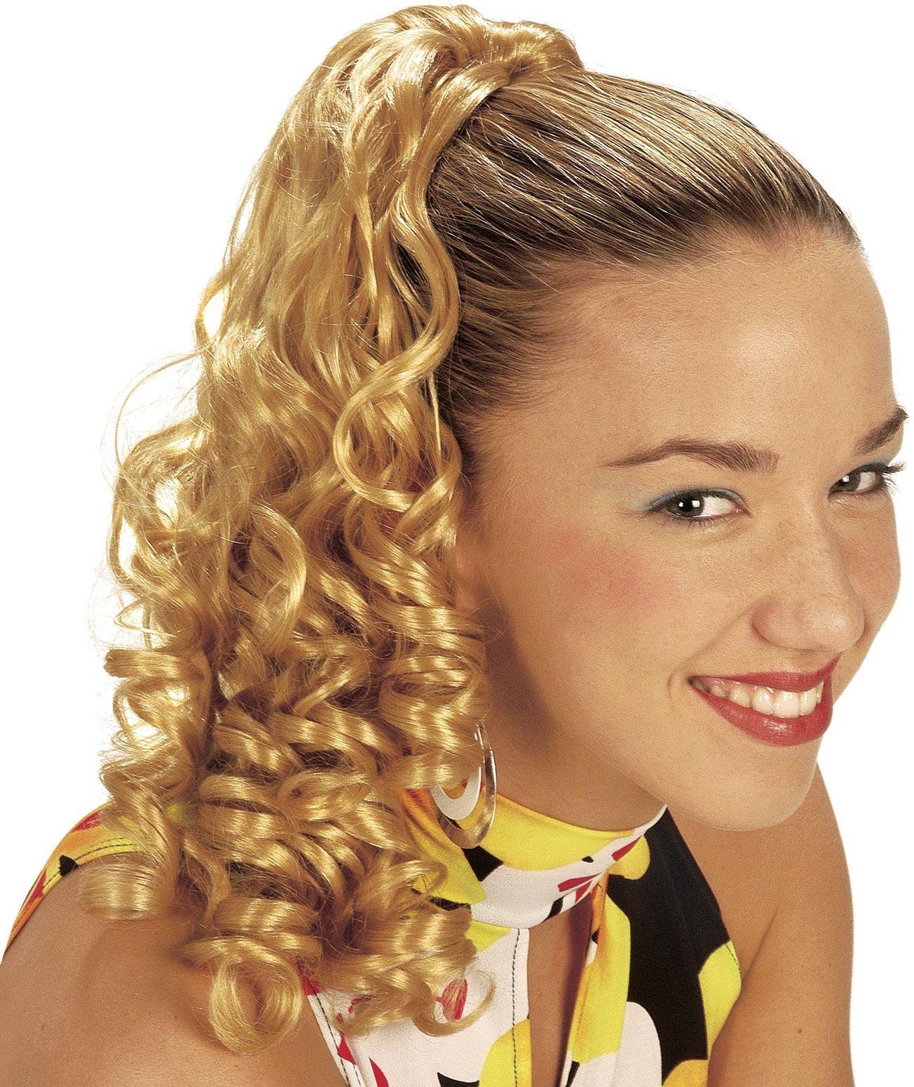 Haarextensie met krullen blond