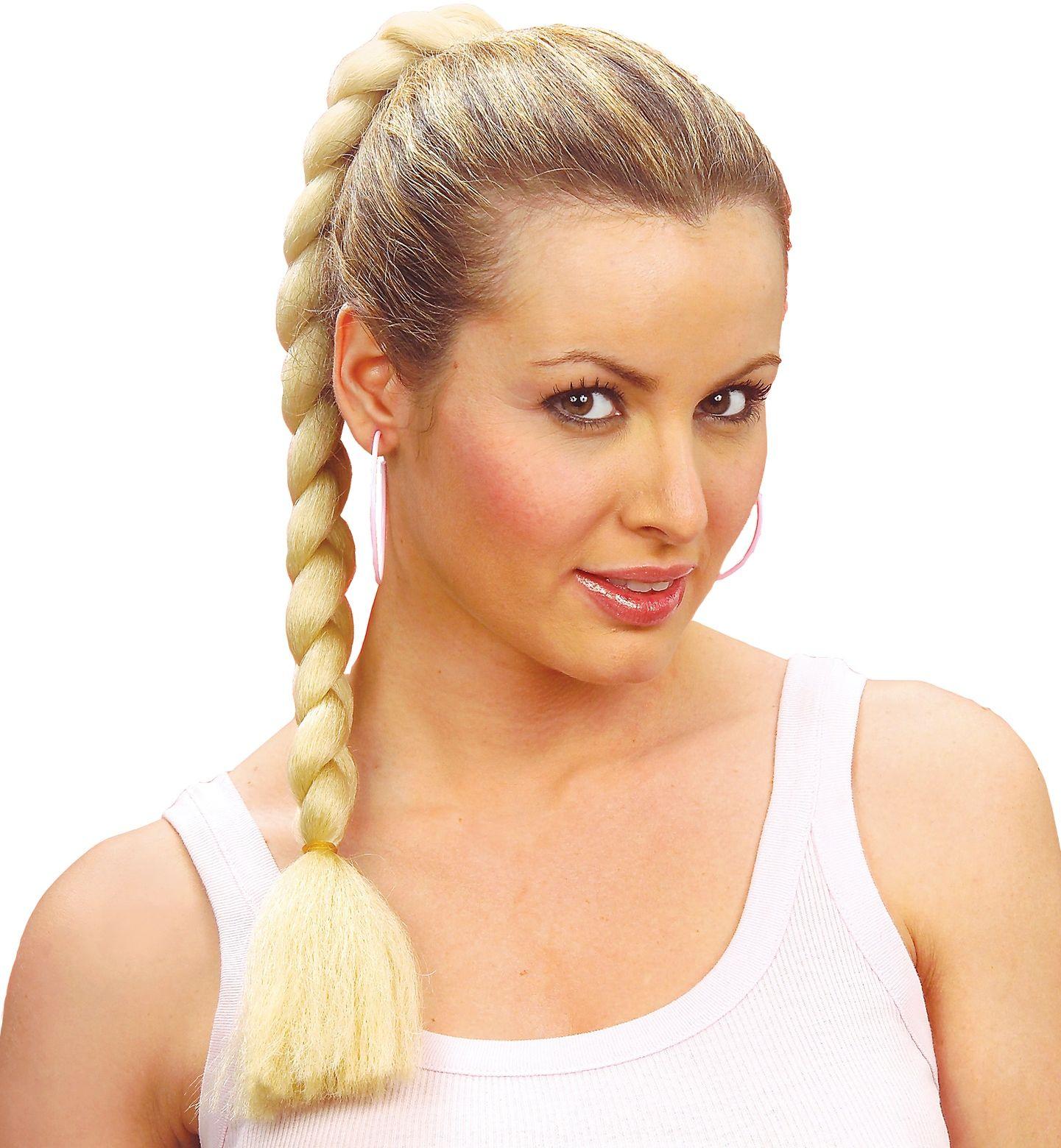 Haarextensie met vlechten blond