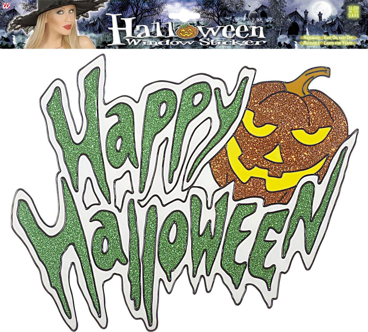 Halloween glow in the dark raam sticker