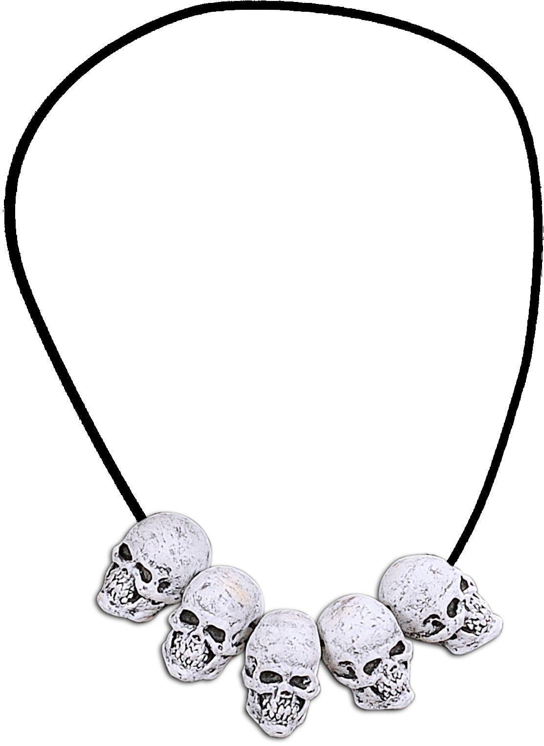 Halloween halsketting met schedels