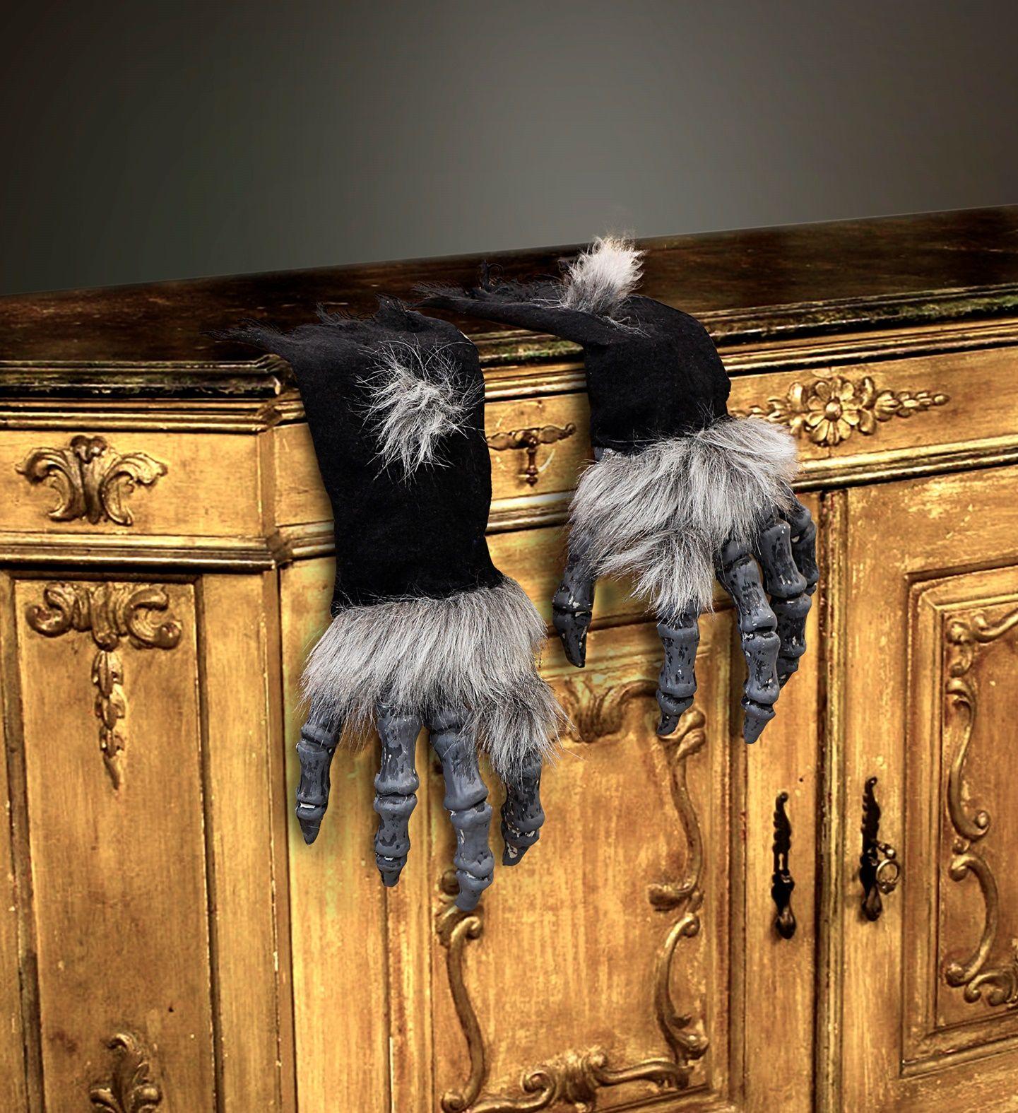 Halloween handschoenen met vacht