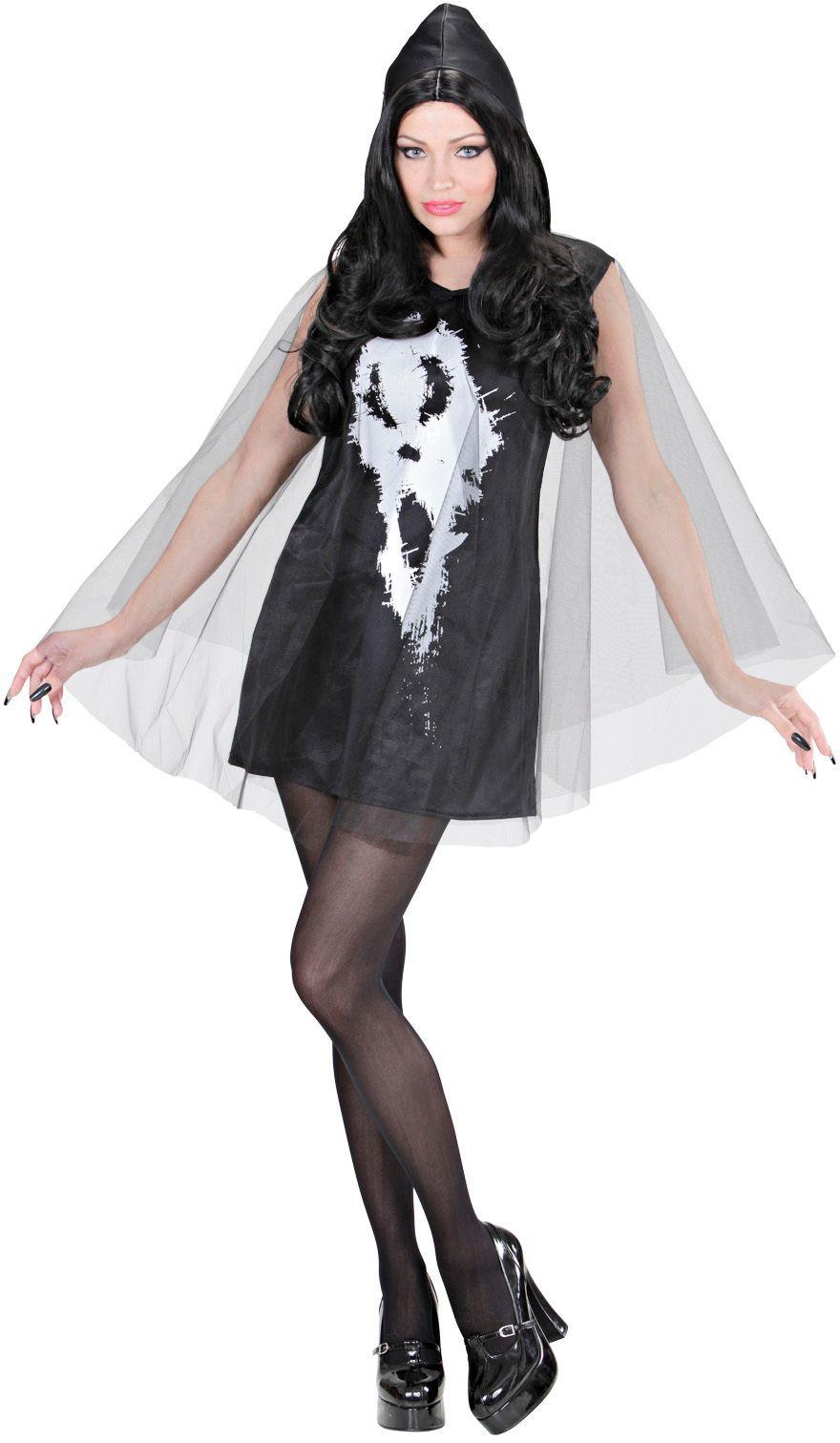 Halloween skelet jurk