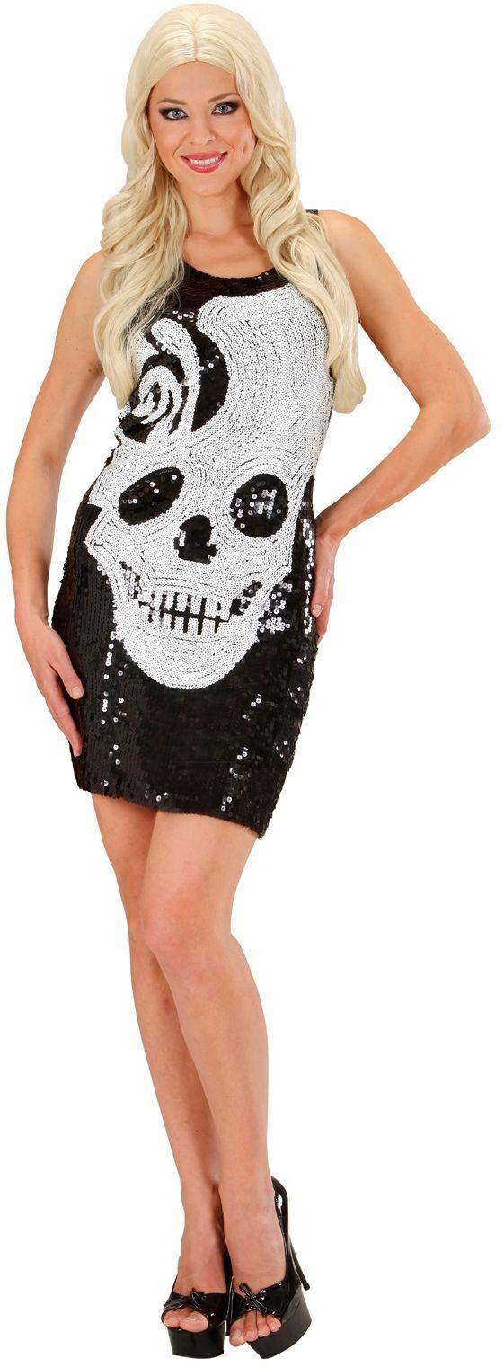 Halloween skelet jurkje