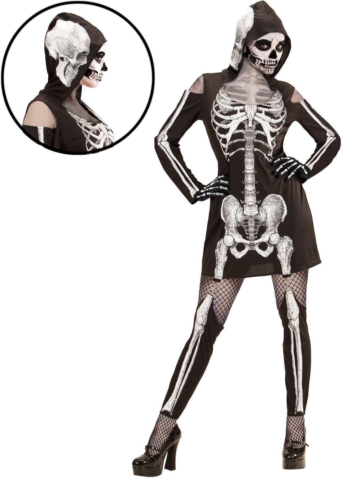 Halloween skelet kostuum
