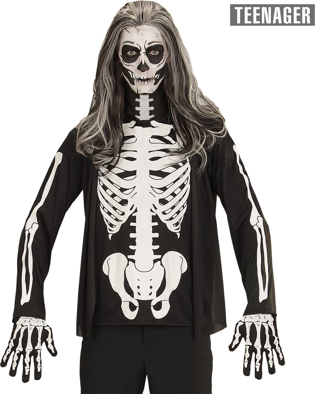 Halloween skelet shirt kind 164