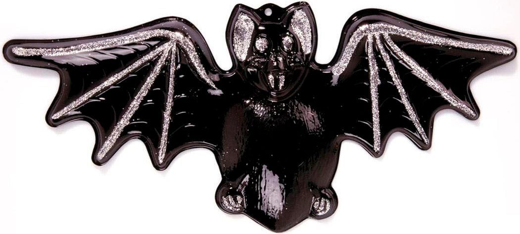 Halloween versiering 3D glitter vleermuis