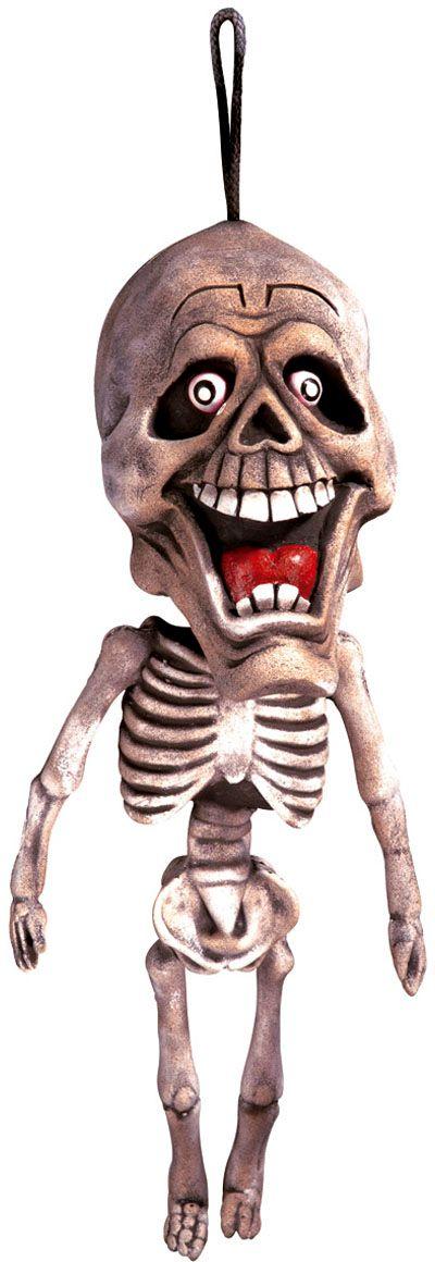 Hangende lachende skelet