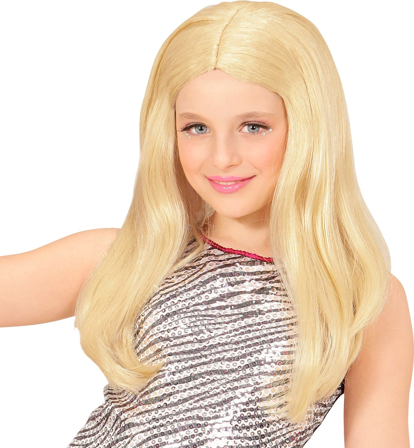Hannah pruik blond