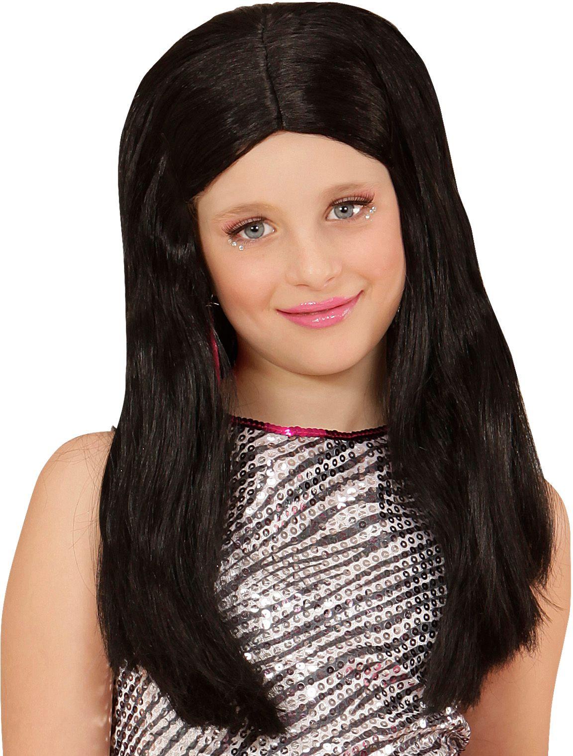 Hannah pruik zwart