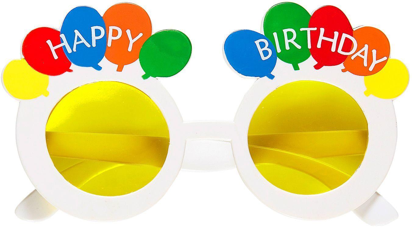 Happy Birthday bril wit