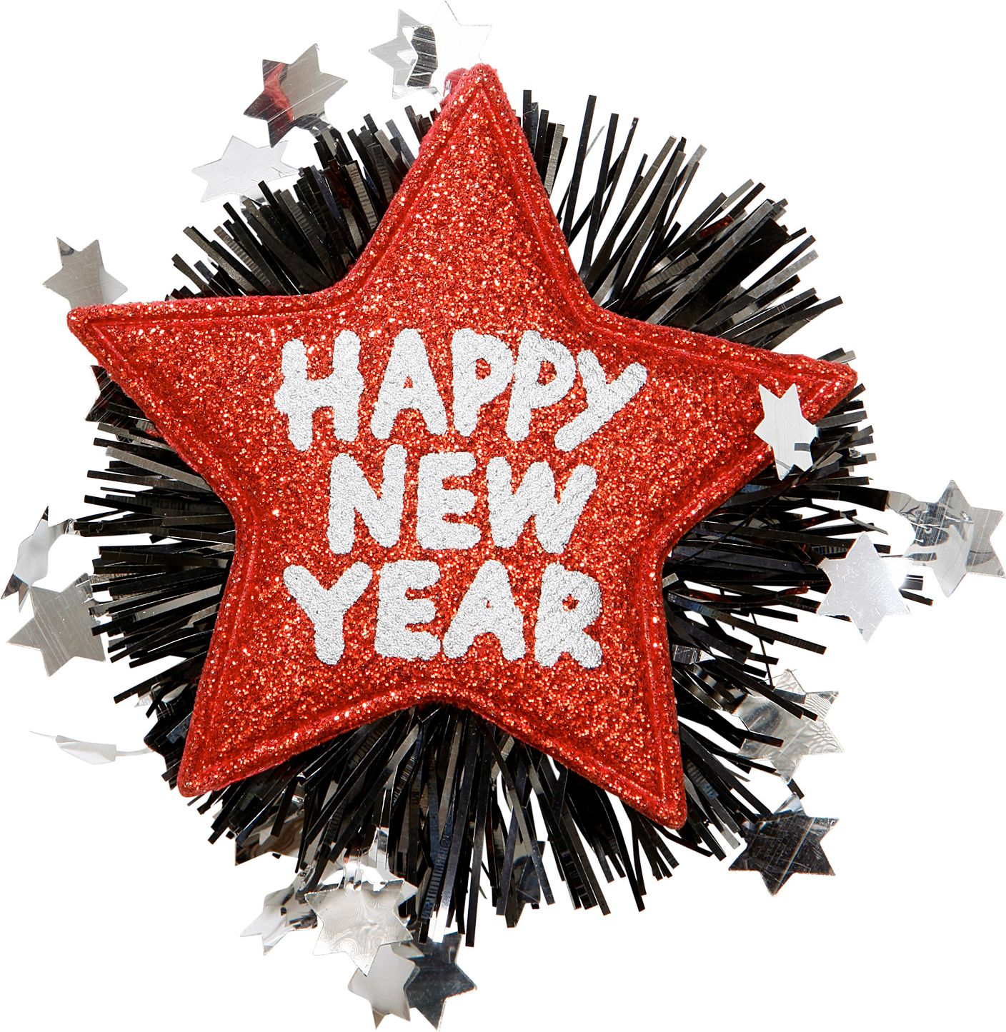 Happy New Year broche rood