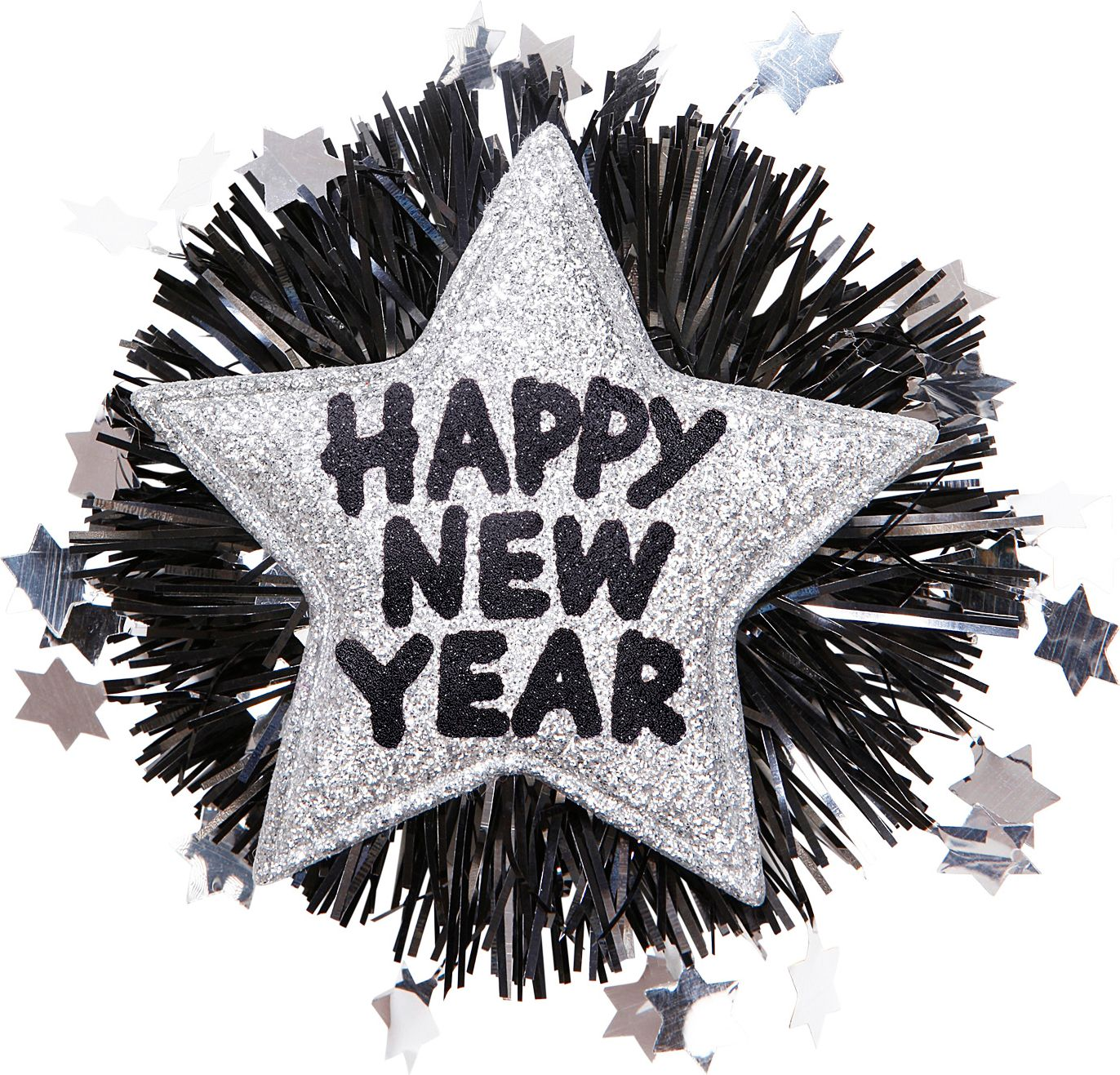 Happy New Year broche zilver