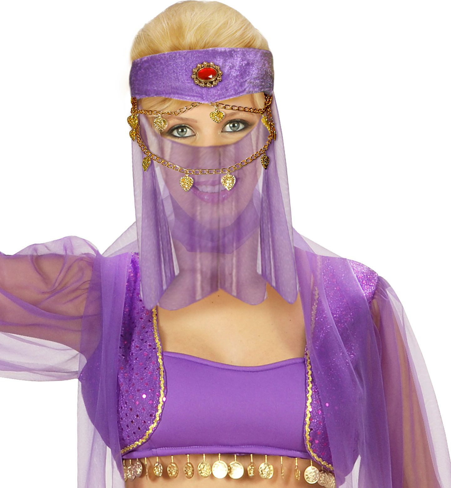 Harem hoofdband met sluier