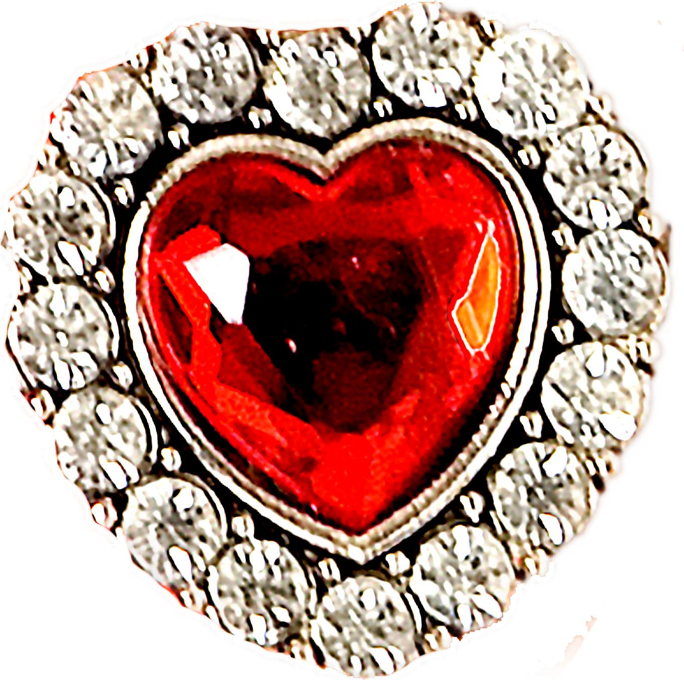 Hartjes ring met edelsteen