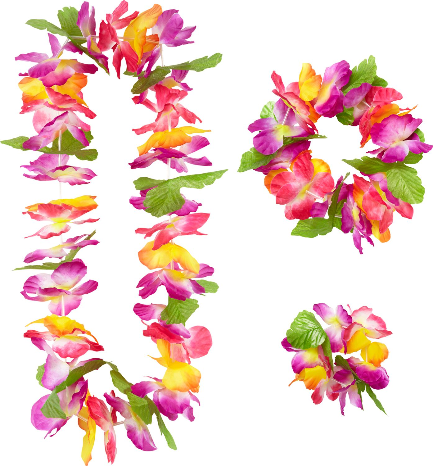 Hawaii bloemen slinger set