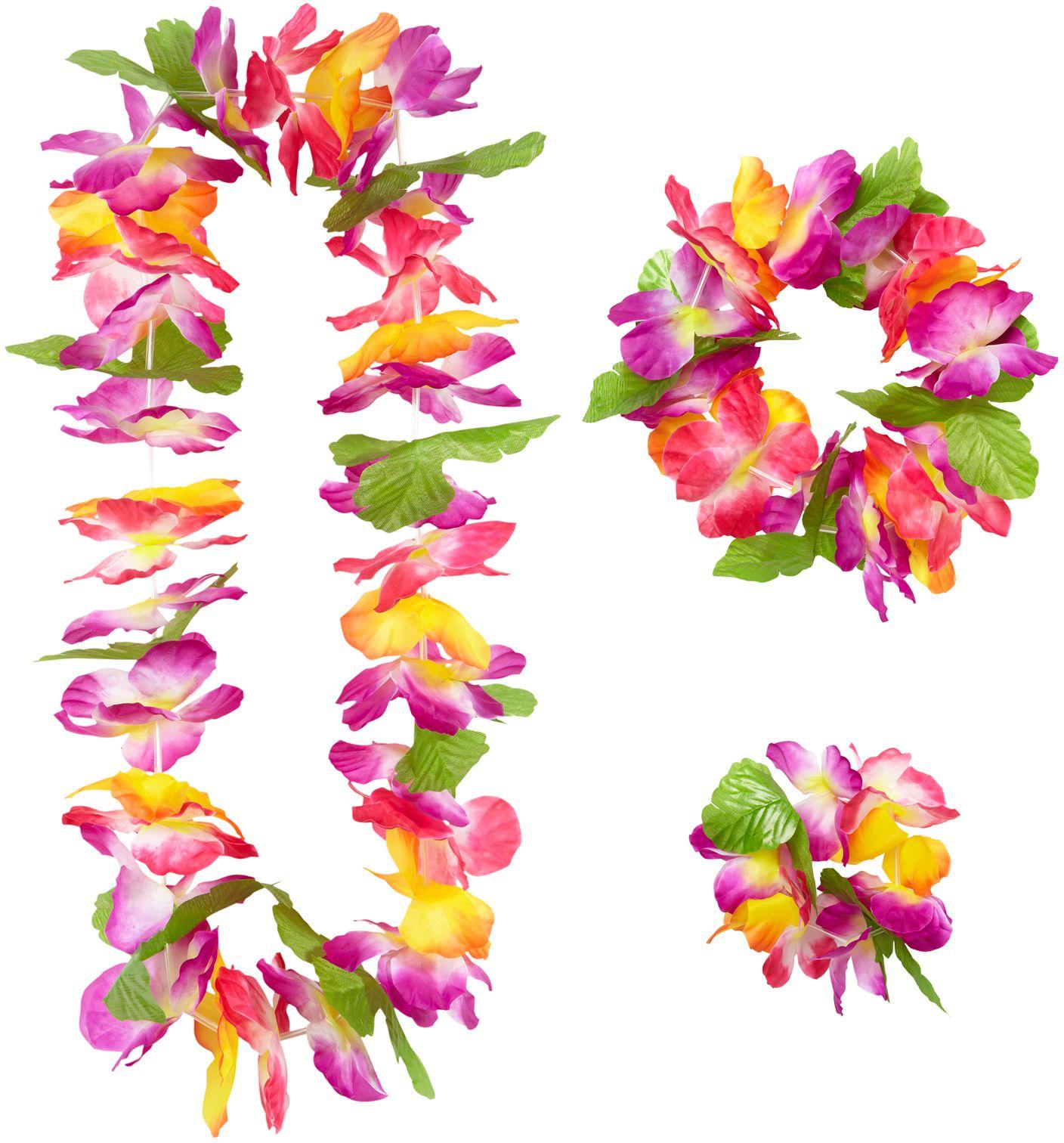 Hawaii bloemen slinger set
