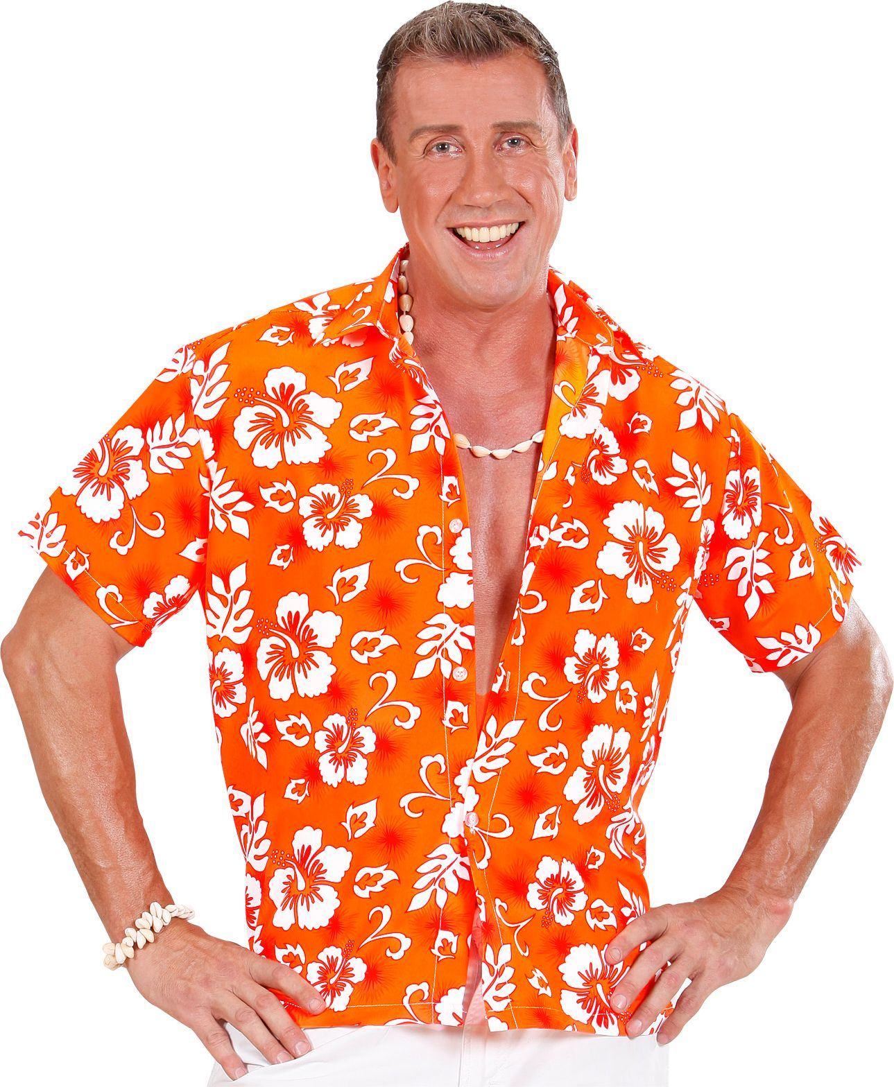 Hawaii blouse oranje