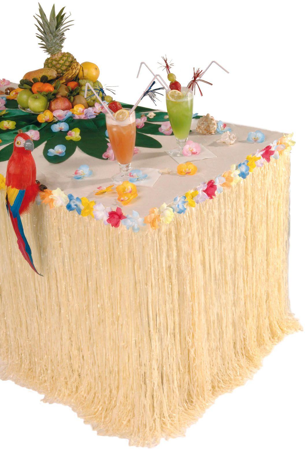 Hawaiiaans tafelkleed met bloem