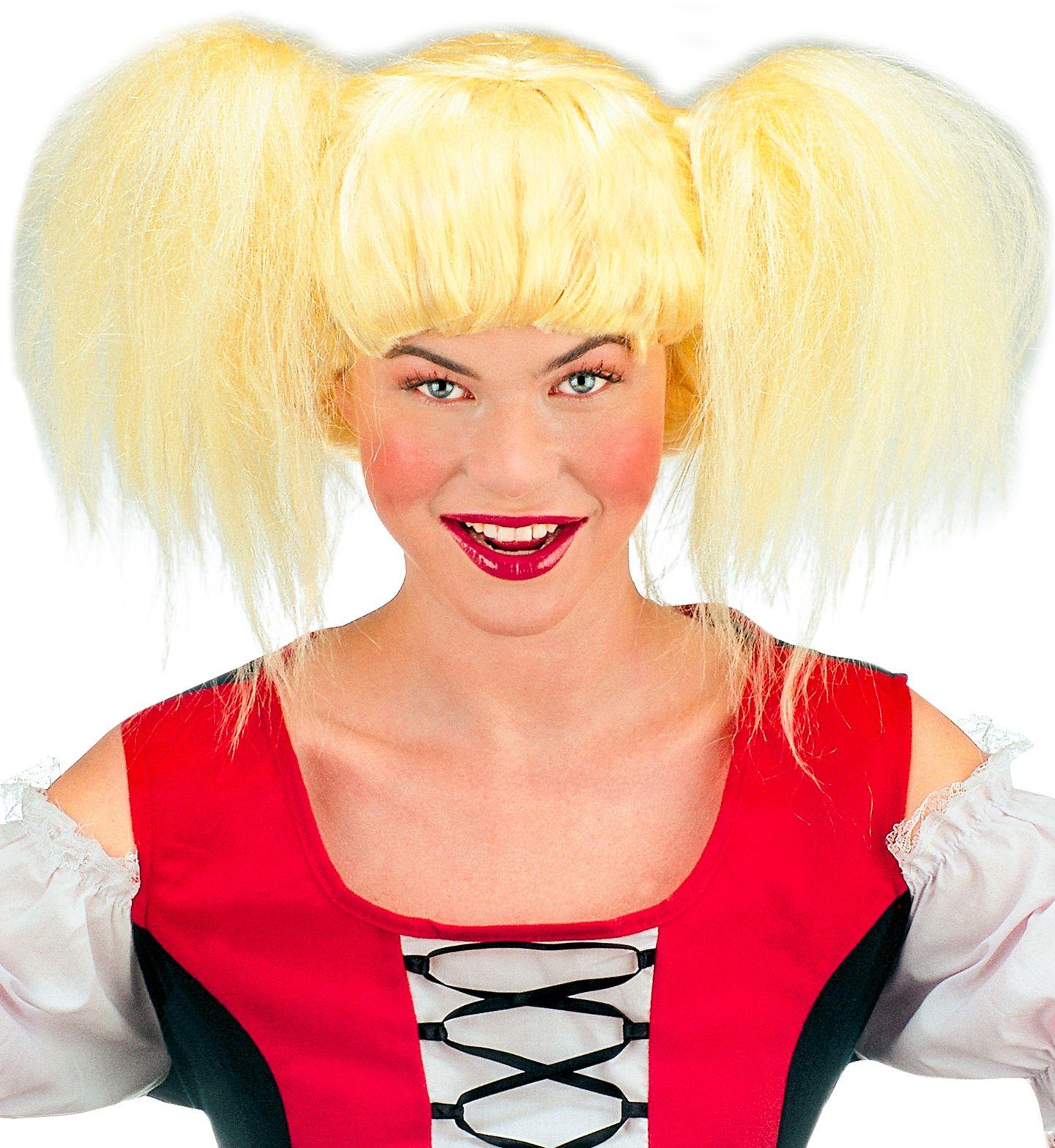 Heidi tiroler pruik blond